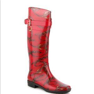 Ralph Lauren Red Rainboots